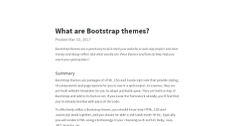 What are Bootstrap themes?